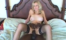 GILF Wearing Nylons And A Big Black Cock