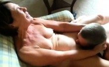Mature wife receiving oral by a young lad