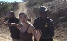Naughty latina babe gets banged by border patrol agent
