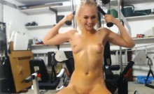 Naughty Naked Chick In The Gym