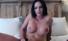 Sexy brunette live dildo camshow