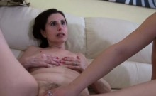 Old lesbo Trena satisfy a young girl