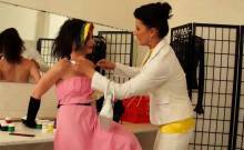 Mature Lesbian Punishes Teen Girl