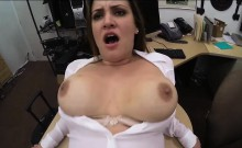 Wife with big tits gets her pussy fucked by pawn guy