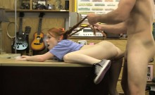 Redhead babe pawns her pussy and banged at the pawnshop