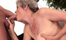 Classy Grandma Takes Solid Dick