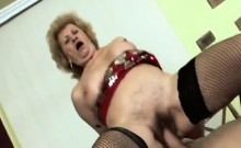 Granny over 60 becomes crazy for a young cock
