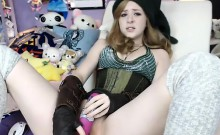 Cute Teen Rubs Small Clit on Webcam - Cams69 dot net