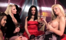 Hot lesbian orgy featuring stunning sex bombs