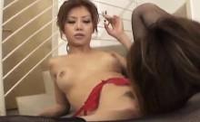 Nurse in black stockings, Rika Tamura, deals cock at work