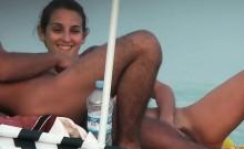 Nudist beach voyeur camera hunting for naked pussies