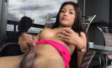 Lovely Asian Tgirl Nong Having Fun With A Buttplug