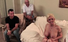Cuckold Couple Meets A Guy At A Porn Set He Sucks Her Tits