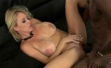 Sexy blonde milf takes a huge black dick in a raunchy action