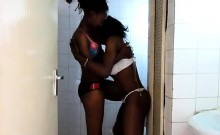 Two Nubian Hotties Remove Their Bras And Play With Hard