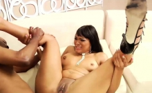 Sexy Black Babe Loves To Ride Him