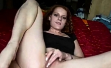 Redhaired German Teen Plays On Herself
