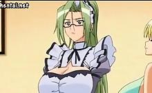 Big boobed anime babes seduceing
