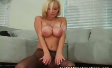 Hanna Hilton In Your Face Nylon Crotch Jerking
