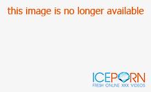 Blonde girl toys show on webcam