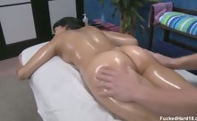 Hot 18 year old brunette Kimberly gets fucked hard from