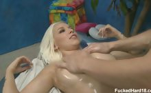 Cute blond Stevie Shae seduced and fucked hard by her