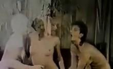 80s Lesbian Threesome