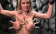 Busty Blonde Slave Getting Punished