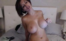 Busty Babe Enjoyed Playing with her Dildo