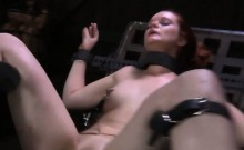 Tormenting babe's snatch with toy