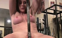 Redhead Cougar Fucks Her Barbell