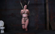Titty torture for naughty attractive hottie
