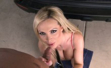 Busty housewife Nikki Benz take cock in POV