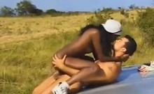 Black Girl Fucking Outdoors On A Car