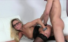 Female agent gets big cock in casting