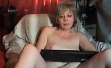 Grandma Teasing Her Pussy