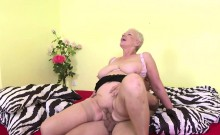 Busty mature BBW fucks a stud on Mature NL