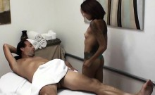 Naughty Masseuse Gives Massage And Blowjob