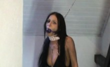 My chained slave wife thoroughly humiliated