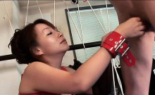 Tight asian mom uses vibrator to make her cunt wet