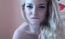 Stunning Blonde Webcam Girl With Huge Tits