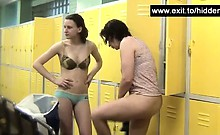 Naked next door girls spied in locker room