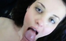 Blowjob caring slut sucks on dick and experiencing its fres