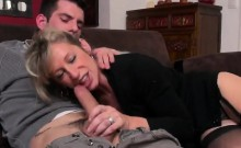 Jr penis is taken by German amateur senior