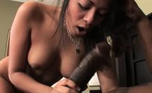 Busty Latina Gabriela Mouth Fucks An Ebony Guy