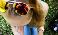 Lovely amateur Eurobabe fucked in the woods for money
