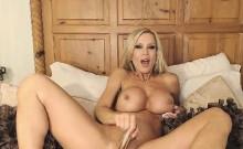 Blonde milf big boobs like big black dildo