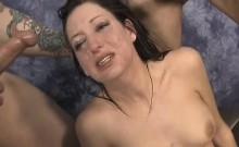 Brunette Harley Rose Slapped Around And Face Fucked