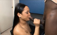 Black amateur couple oral sex and fucking on camera