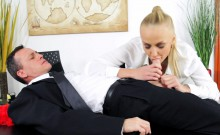 Dominant business lady fucked by employee